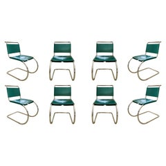 "Ludwig Mies Van Der Rohe ""MR10"" Cantilever Chairs for Knoll, 1975, Set of 8"