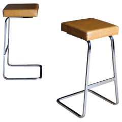 "Ludwig Mies van der Rohe & Phillip Johnson "" Four Seasons "" Bar Stools, 1974"
