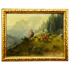 Ludwig Skell, Stag and Does in the Forest