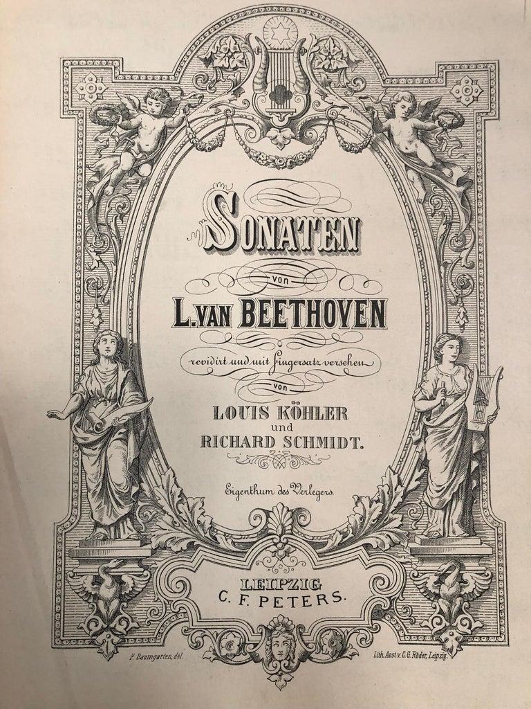 Ludwig van Beethoven Sonaten Sheet Music Book, C  F  Peters, Leipzig, circa  1820