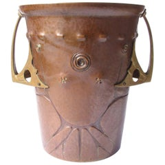 Ludwig Vierthaler Art Nouveau Copper and Bronze Ice Bucket, circa 1906