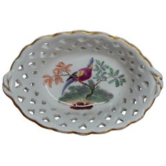 Ludwigsburg Miniature Basket with Bird, circa 1765