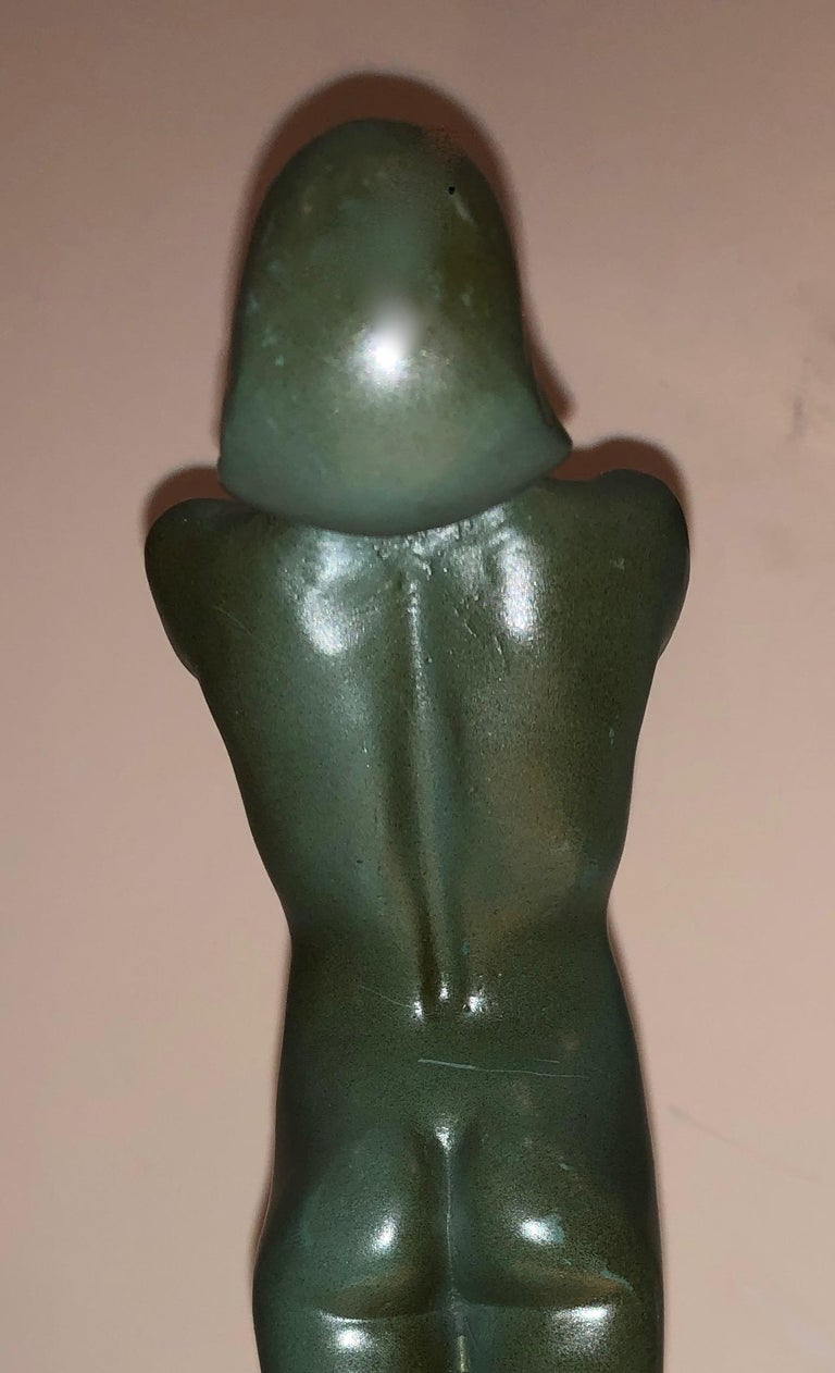 Lueur Classic Art Deco Nude Statue by Max Le Verrier In Good Condition For Sale In Oakland, CA