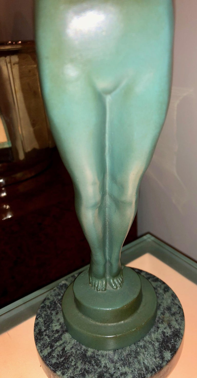 Lueur Classic Art Deco Nude Statue by Max Le Verrier For Sale 1