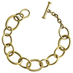 Lug Bracelet in 22 Carat Yellow Gold, 167 Internally Flawless Diamonds