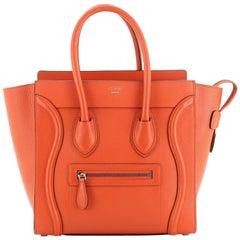 Luggage Bag Grainy Leather Micro