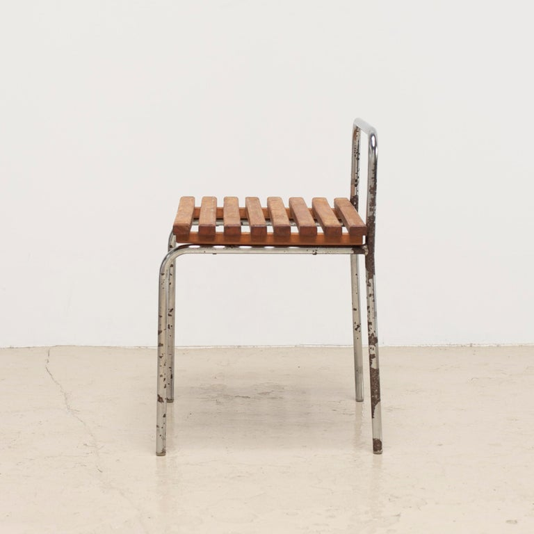 Mid-20th Century Luggage Rack or Stool from Les Arcs, 1960s For Sale