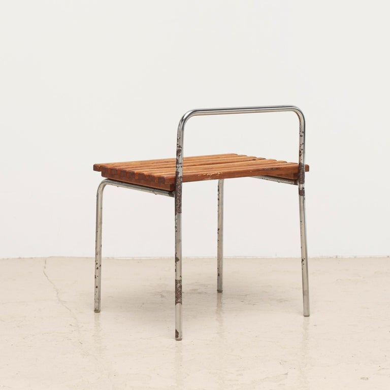 Steel Luggage Rack or Stool from Les Arcs, 1960s For Sale