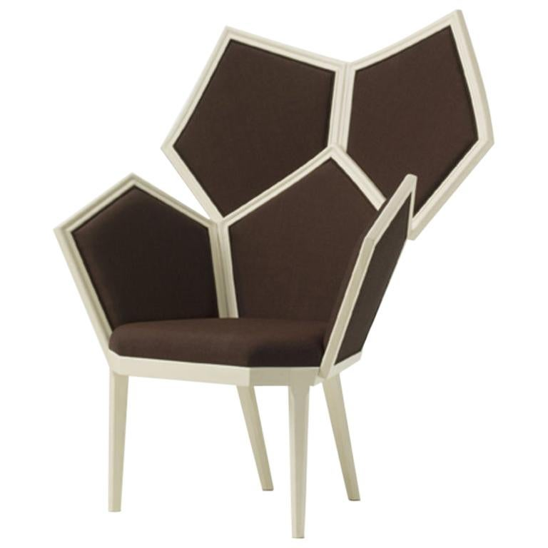 LUI 5/A Armchair with Fabric and Wooden Frame