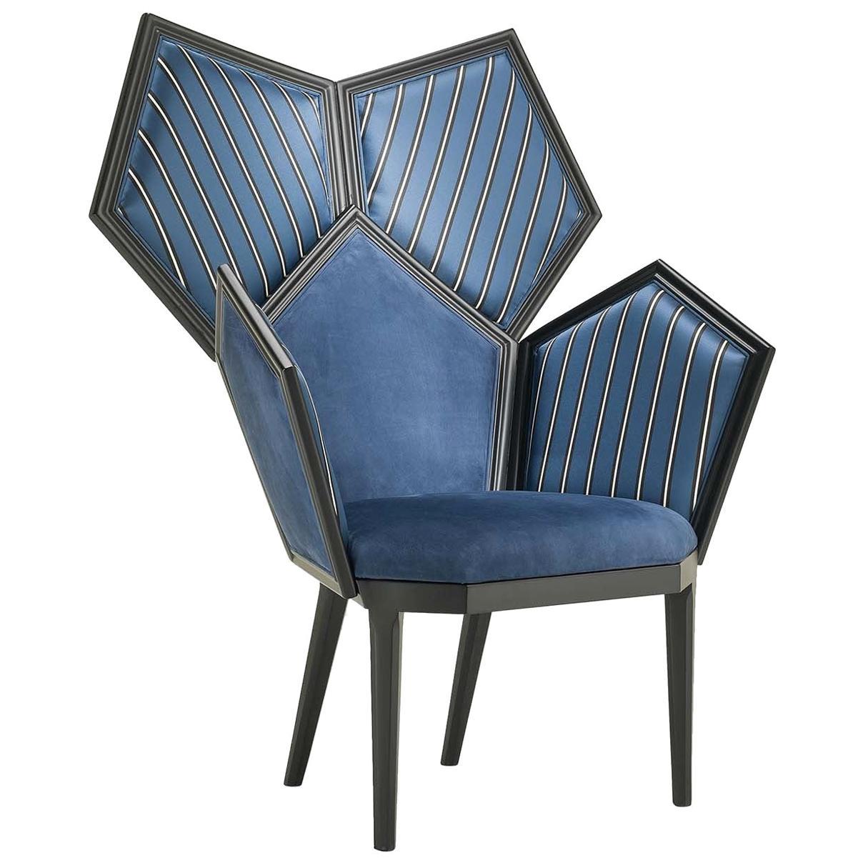 Lui 5/A Blue Armchair by Philippe Bestenheider