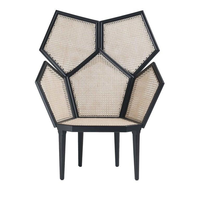 Italian Lui 5/A White Armchair by Philippe Bestenheider For Sale