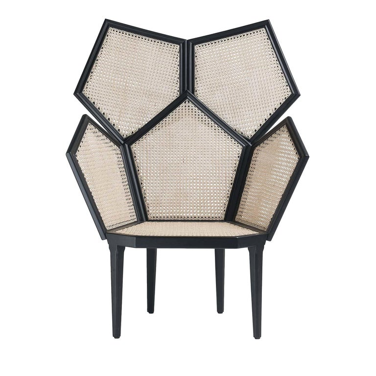 Lui 5/A White Armchair by Philippe Bestenheider For Sale