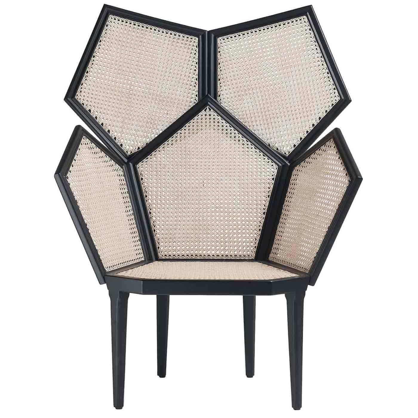 Lui 5/A White Armchair by Philippe Bestenheider