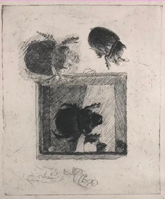 Beetles - Etching by Luigi Bartolini - 1936