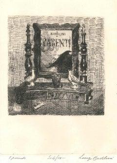 I Parenti (The Relatives) - Etching by Luigi Bartolini - 1929