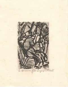 La Domenica - Original Etching by Luigi Bartolini - 1943