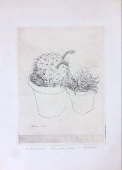 Le Piante Grasse - Original Etching by Luigi Bartolini - 1949