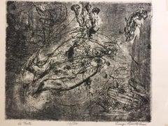 Le Trote - Etching by Luigi Bartolini - 1934