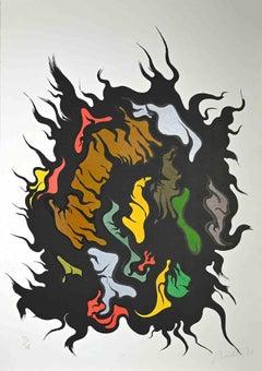 Composition - Original Screen Print by Luigi Boiille - 1971