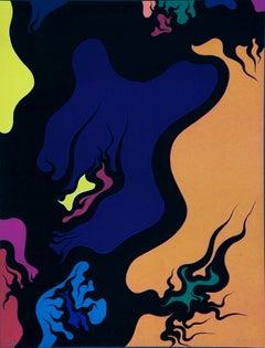 Purple Hell - Original Lithograph by Luigi Boille - 1971