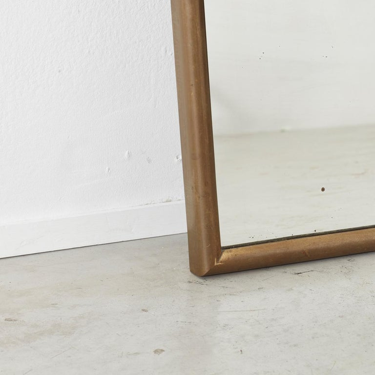 Luigi Brusotti Brass Mirror for Brusotti, Italy, 1950s In Good Condition For Sale In London, GB
