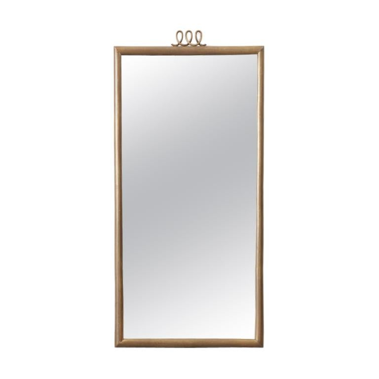 Luigi Brusotti Brass Mirror for Brusotti, Italy, 1950s For Sale