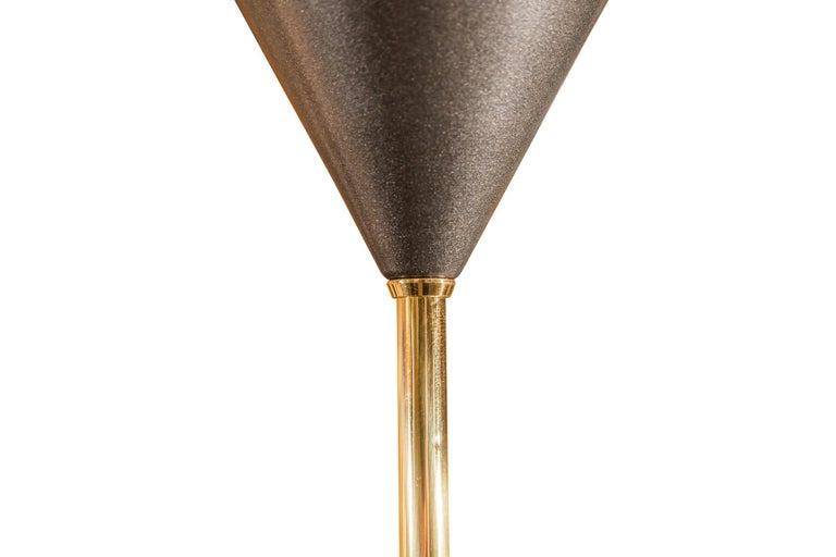 Late 20th Century Luigi Caccia Dominioni, Pair of Floor Lamps, Italy, circa 1970 For Sale