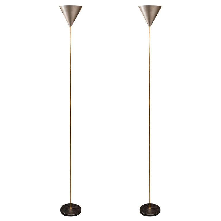 Luigi Caccia Dominioni, Pair of Floor Lamps, Italy, circa 1970 For Sale