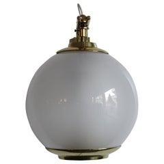 Luigi Caccia Dominioni Big Italian Glass Brass Wall Lamp for Azucena, 1960s