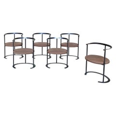 "Luigi Caccia Dominioni ""Catilina"" Chairs for Azucena, 1958, Set of 6"