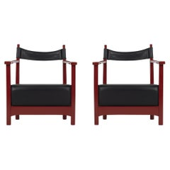 Luigi Caccia Dominioni Chinotto Azucena Easy Lounge Chairs