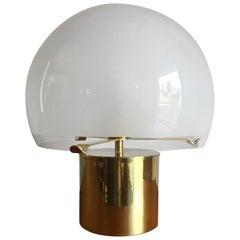"""Luigi Caccia Dominioni for Azucena Italian Brass Glass Table Lamp """"Porcino"""" 1960"""