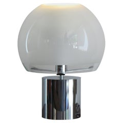 """Luigi Caccia Dominioni for Azucena Italian Glass Table Lamp """"Porcino"""" 1960s"""