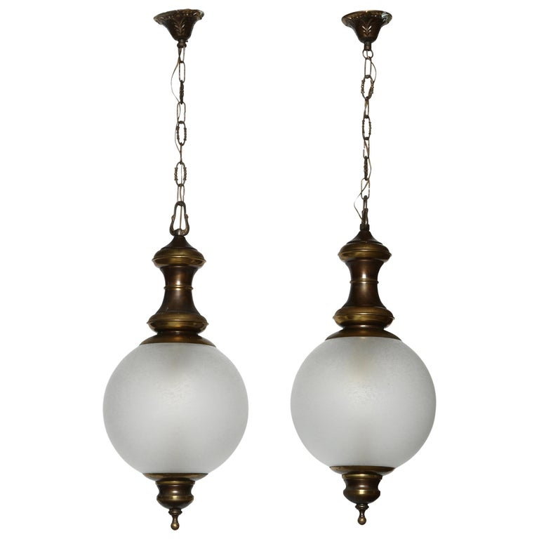 Luigi Caccia Dominioni for Azucena attributed Pair of Ceiling Pendants For Sale
