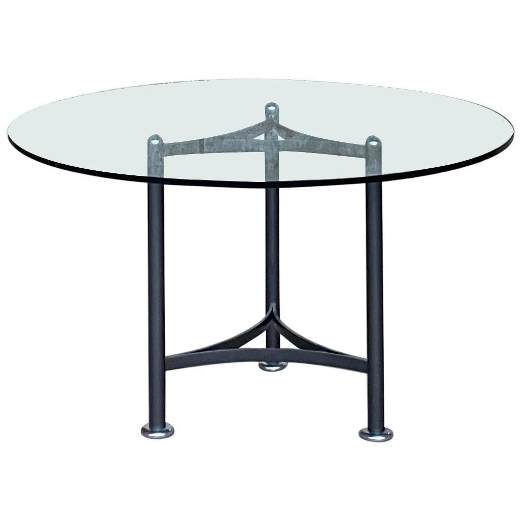 Luigi Caccia Dominioni Glass Round Table for Azucena, 1970