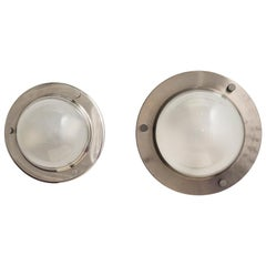 "Luigi Caccia Dominioni Pair of LSP 6 ""Tommy"" Flush or Wall Lamps for Azucena"