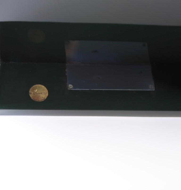 Luigi Caccia Dominioni, Sciabola Desk SCR7 in Dark Green, Edition Azucena, 1979 For Sale 3