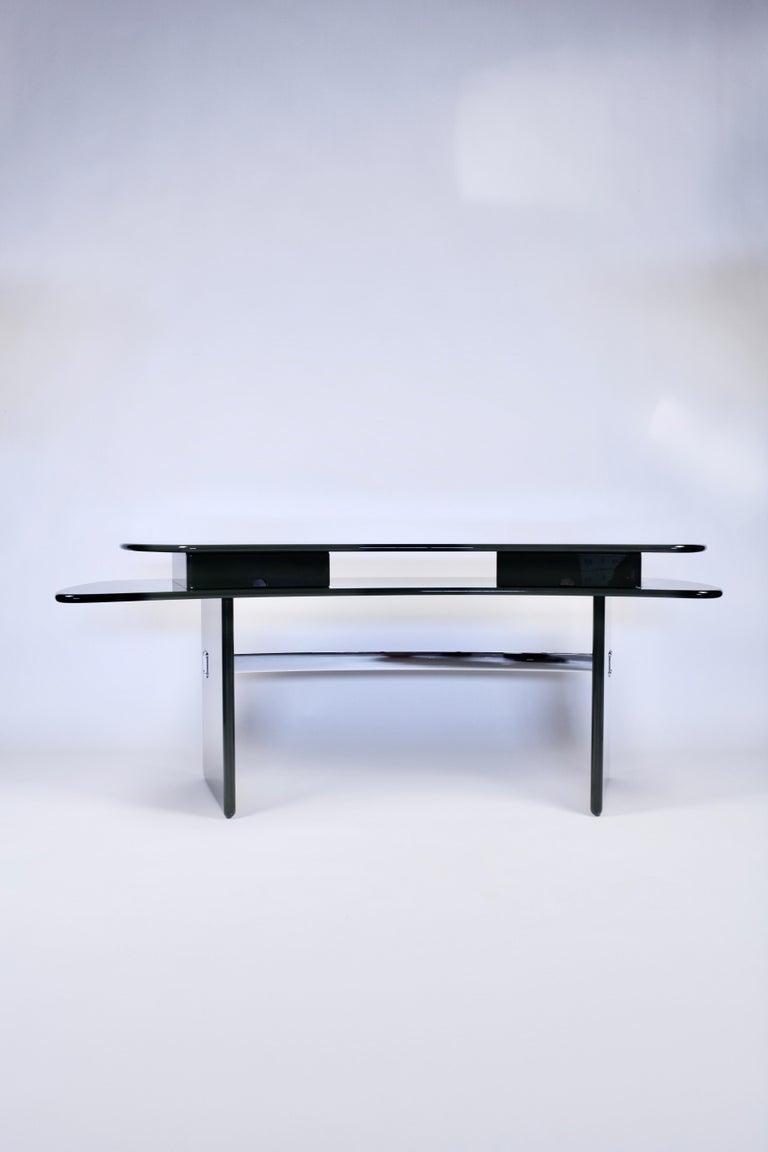 Luigi Caccia Dominioni, Sciabola Desk SCR7 in Dark Green, Edition Azucena, 1979 For Sale 5