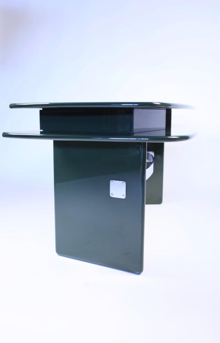 Luigi Caccia Dominioni, Sciabola Desk SCR7 in Dark Green, Edition Azucena, 1979 For Sale 9