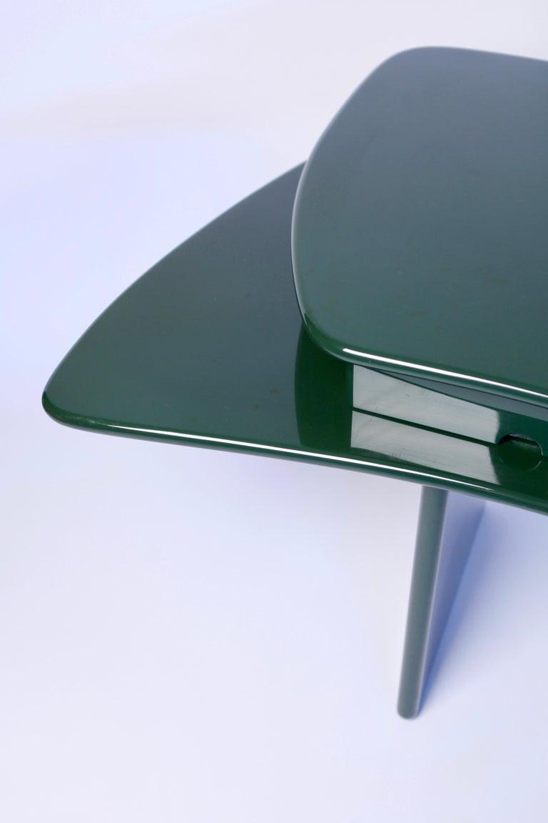 Italian Luigi Caccia Dominioni, Sciabola Desk SCR7 in Dark Green, Edition Azucena, 1979 For Sale