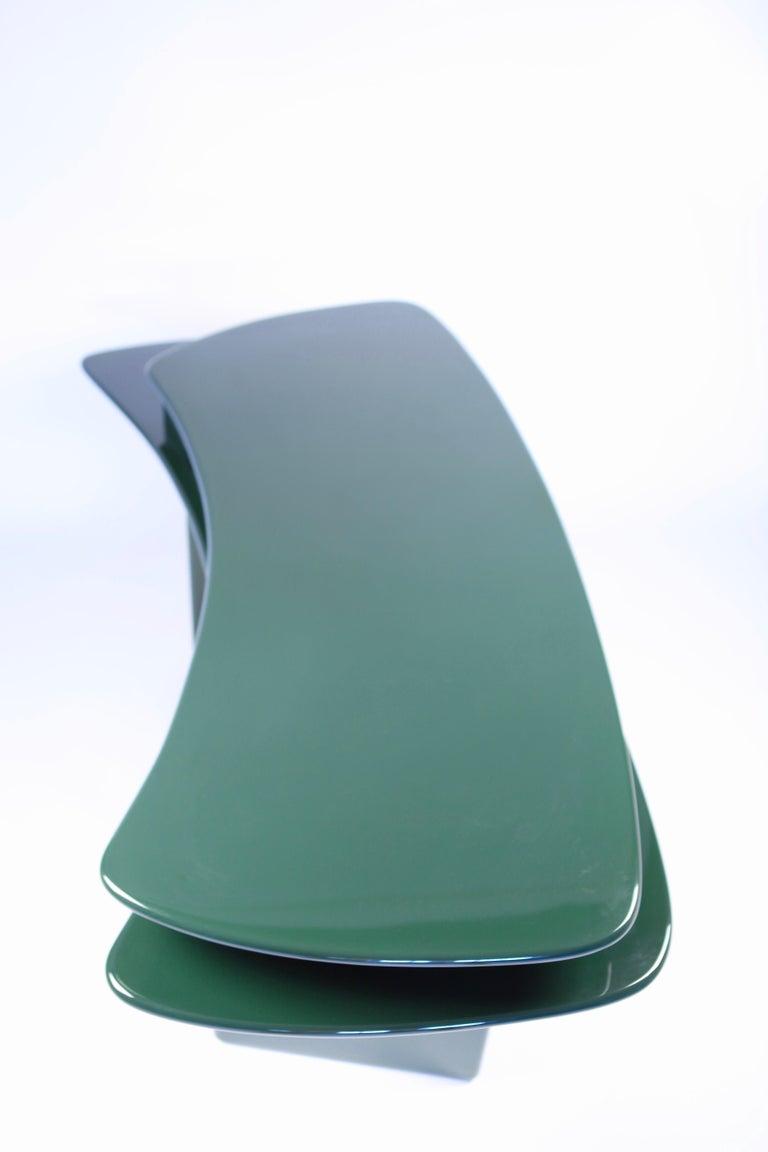 Luigi Caccia Dominioni, Sciabola Desk SCR7 in Dark Green, Edition Azucena, 1979 In Good Condition For Sale In , DE