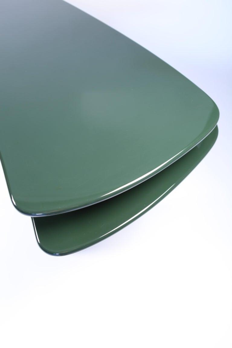 Luigi Caccia Dominioni, Sciabola Desk SCR7 in Dark Green, Edition Azucena, 1979 For Sale 1