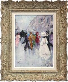 Parisian Street Scene with Figures