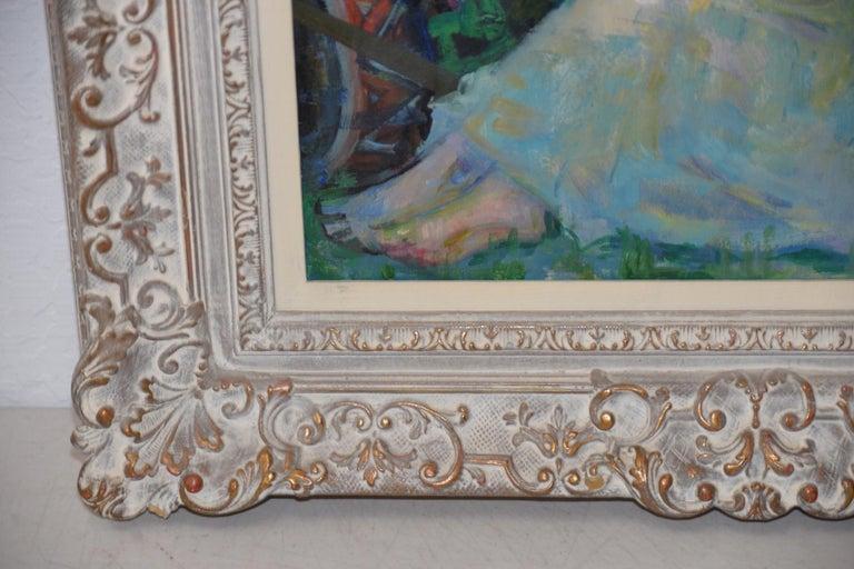 The White Horse - Impressionist Painting by Luigi Corbellini