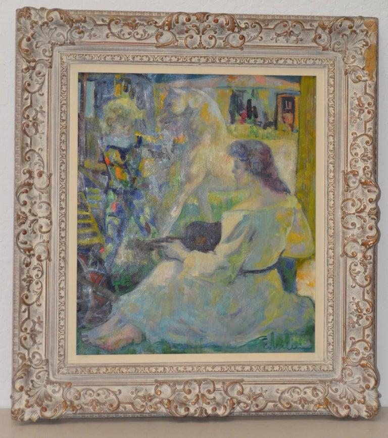 Luigi Corbellini Figurative Painting - The White Horse