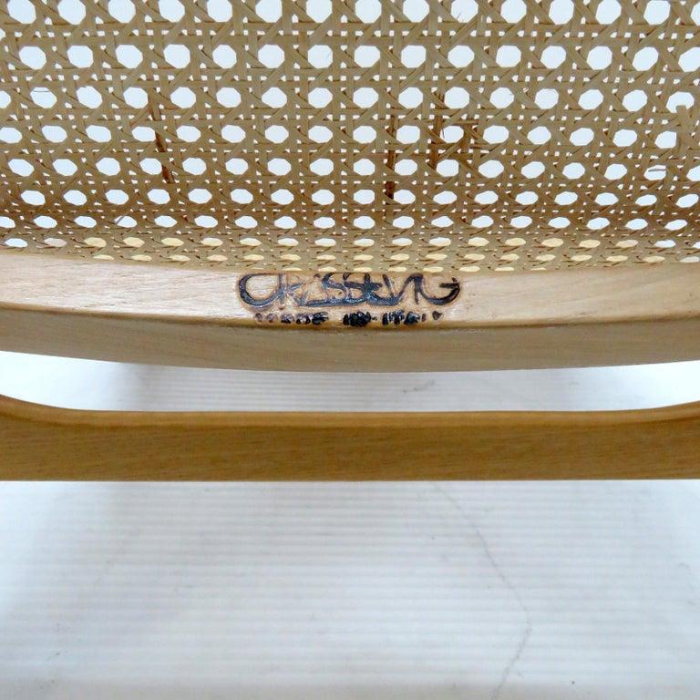 Luigi Crassevig 'Dondolo' Bentwood Rocking Chair, 1970 For Sale 2