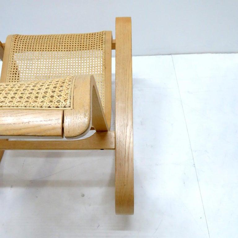 Late 20th Century Luigi Crassevig 'Dondolo' Bentwood Rocking Chair, 1970 For Sale
