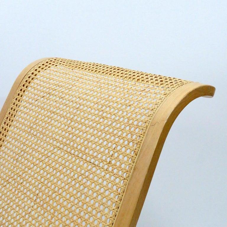 Cane Luigi Crassevig 'Dondolo' Bentwood Rocking Chair, 1970 For Sale