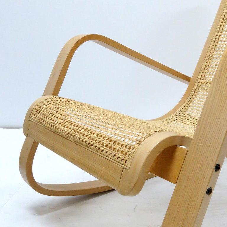 Luigi Crassevig 'Dondolo' Bentwood Rocking Chair, 1970 For Sale 1