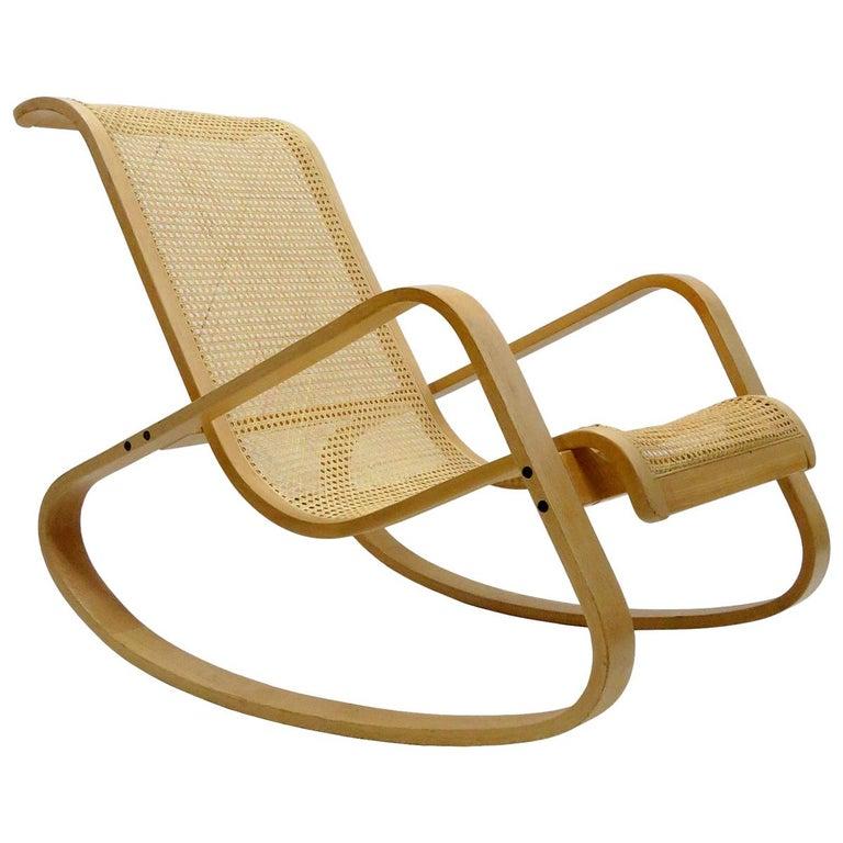Luigi Crassevig 'Dondolo' Bentwood Rocking Chair, 1970 For Sale